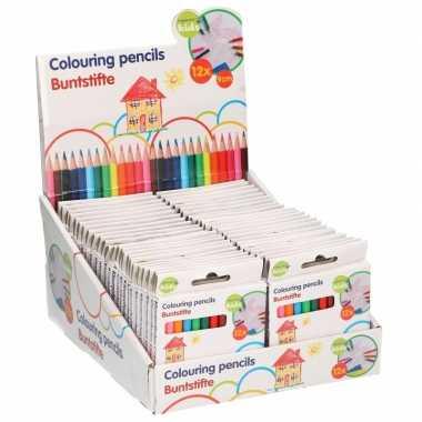 10x pakjes mini kleurpotloden 12 stuks