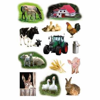 117x boerderij dieren stickertjes voor kinderen