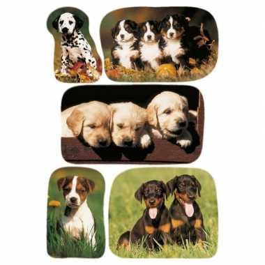 15x honden/puppy stickertjes voor kinderen