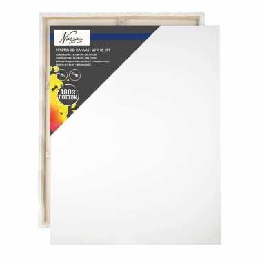 1x canvas schilders doeken 60 x 80 cm