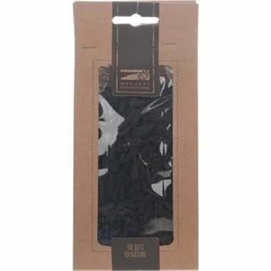 1x zakje zwarte houtsnippers 150 gram