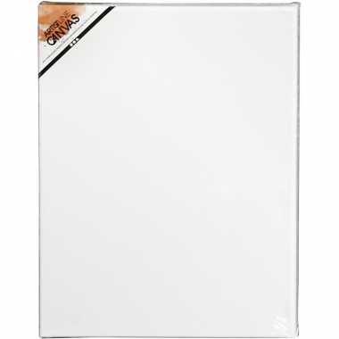 2x stuks hobby artikelen canvas schildersdoek 30 x 40 cm