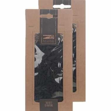 2x zakje zwarte houtsnippers 150 gram