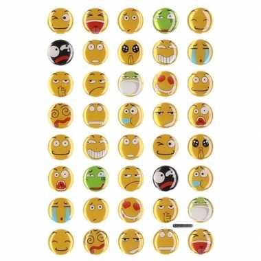 35x emoties smiley stickers op vel