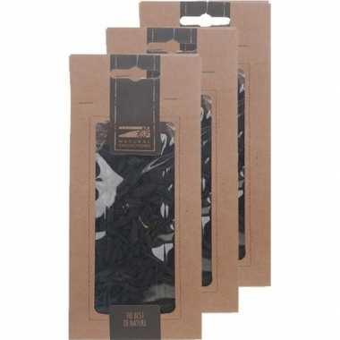 3x zakje zwarte houtsnippers 150 gram