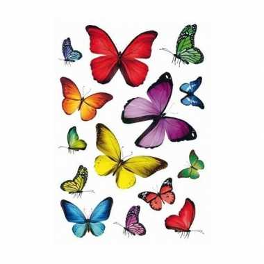 42x vlinder stickertjes voor kinderen