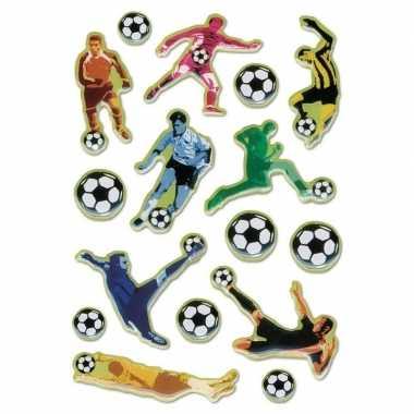 48x voetbal stickertjes voor kinderen