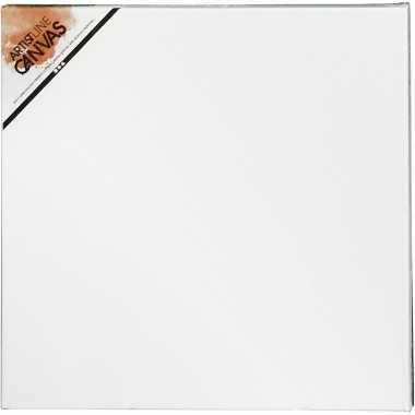 4x stuks hobby artikelen canvas schildersdoek 30 x 30 cm