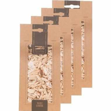 4x zakje naturel houtsnippers 150 gram