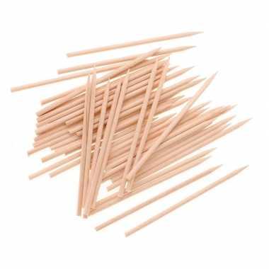 50x hobby houten knutsel spiesen 25 cm
