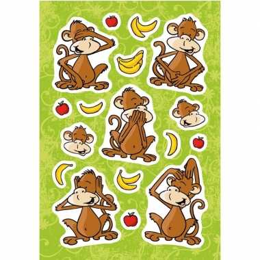 51x aapjes met fruit stickertjes voor kinderen