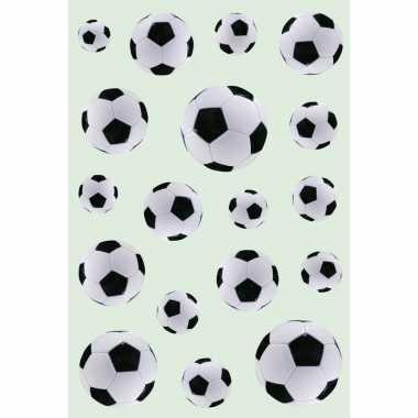 54x zwart/witte voetbal stickertjes voor kinderen
