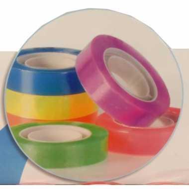 6 rolletjes gekleurd plakband