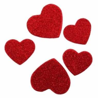 60 stickertjes in de vorm van hartjes