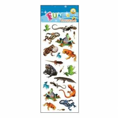 60x reptielen stickertjes voor kinderen