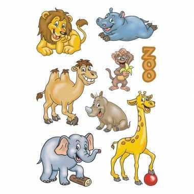 72x dierentuin dieren stickertjes voor kinderen