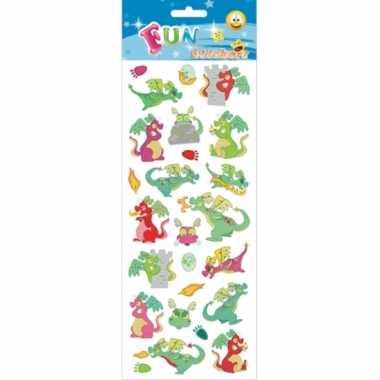 72x draken stickertjes voor kinderen