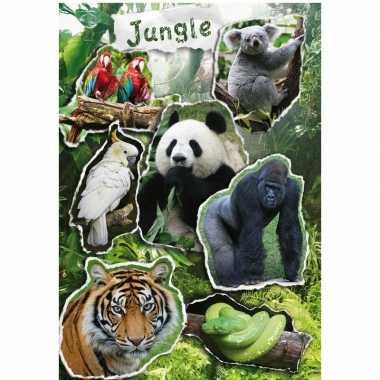 7x wilde dieren stickertjes voor kinderen