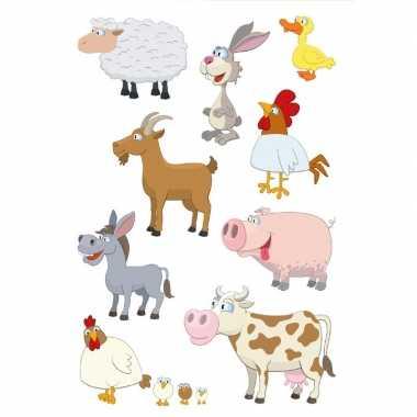 81x boerderij dieren stickertjes voor kinderen