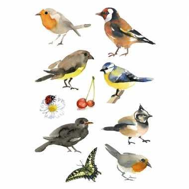 90x vogel stickertjes voor kinderen