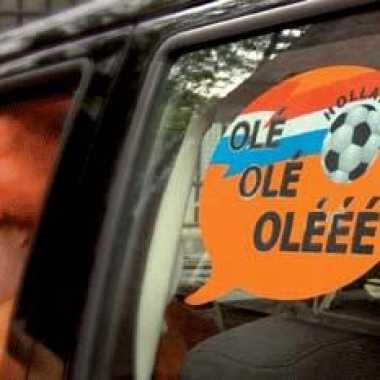 Autoraam sticker voetbal Ole Ole