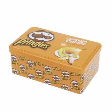 Bewaarblik Pringles opdruk oranje