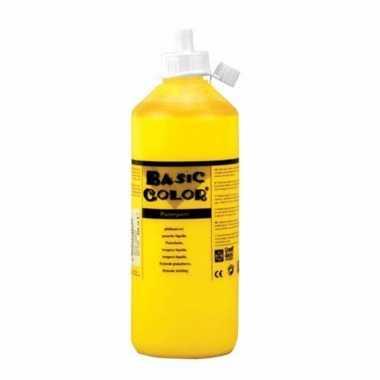 Gele schoolverf in tube 1000 ml