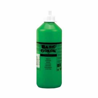 Groene schoolverf in tube 1000 ml