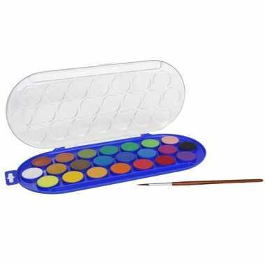 Hobby waterverf/aquarelverf 22 kleuren