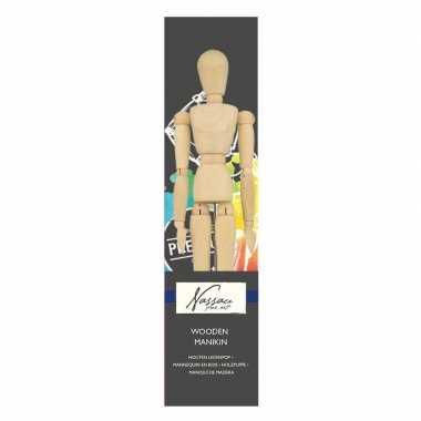 Houten ledenpop/tekenpop man anatomie 30 cm