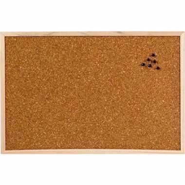 Kantoor kurken prikborden/memoborden 60 x 45 cm