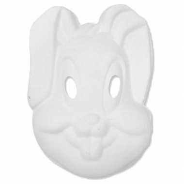 Kartonnen masker konijntje/haasje