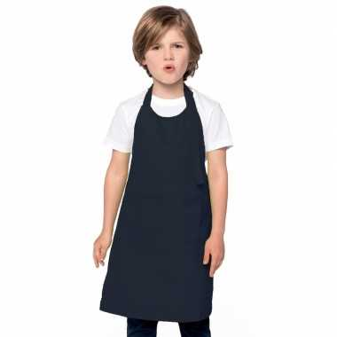 Kliederschort navy blauw voor kids