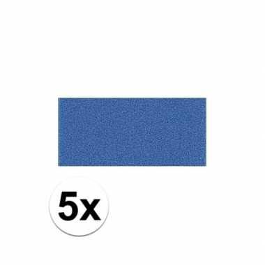 Knutsel rubber blauw 5 stuks