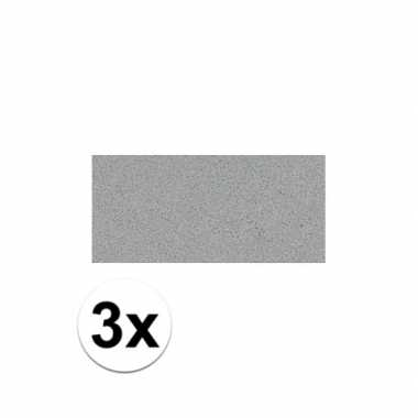 Knutsel rubber grijs 3 stuks
