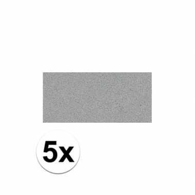 Knutsel rubber grijs 5 stuks