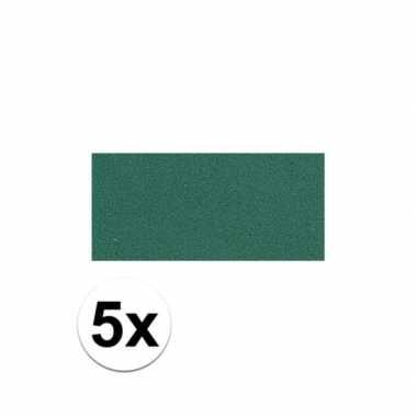 Knutsel rubber groen 5 stuks
