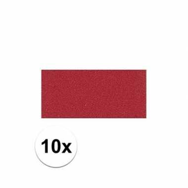 Knutsel rubber rood 10 stuks