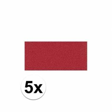 Knutsel rubber rood 5 stuks