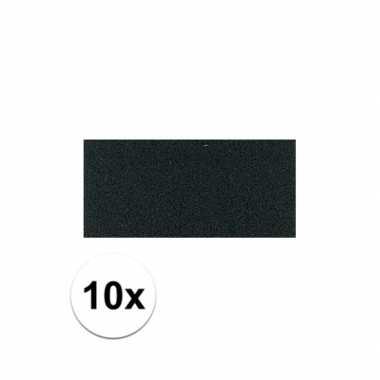 Knutsel rubber zwart 10 stuks
