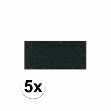 Knutsel rubber zwart 5 stuks