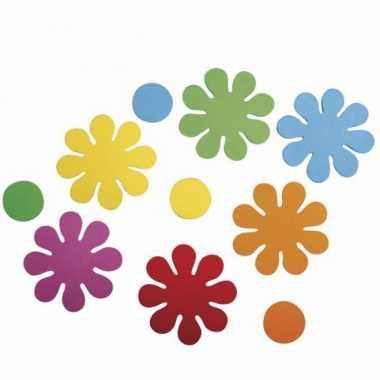 Knutsel rubberen bloemen zelfklevend 80 stuks