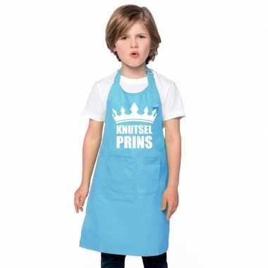 Knutselprins kliederschort blauw jongens
