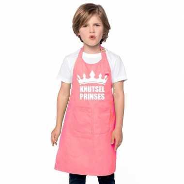 Knutselprinses kliederschort roze meisjes