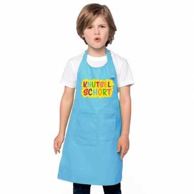 Knutselschort blauw kinderen