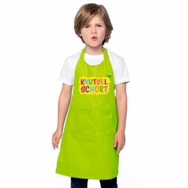 Knutselschort lime groen kinderen