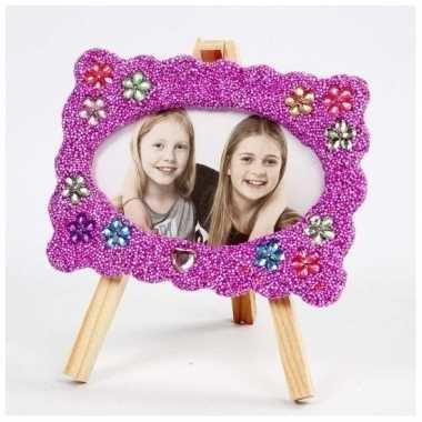 Knutselset houten fotolijst met klei