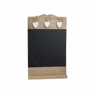 Krijtbord met hartjes 38 cm