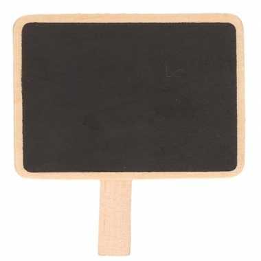 Krijtbordje op knijper 7 x 5 cm