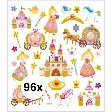 Prinses thema kinder stickers